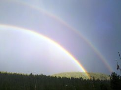 Double Rainbow at Squaw Valley California