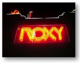 The Roxy Sign