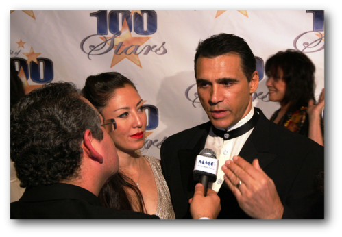 Adrian Paul with Wife and JW Najarian On Purpose Magazine