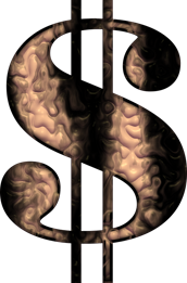 graphic dollar sign rusted