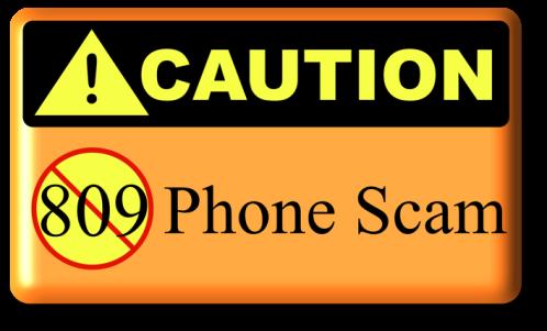 Graphic Caution Phone Scam