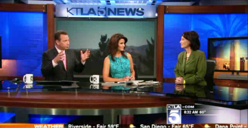Minda Wilson on KTLA Los Angeles as Obamacare Expert